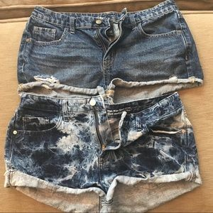 Mossimo distressed high rise short shorts bundle